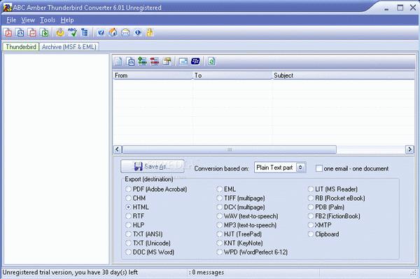 ABC Amber Thunderbird Converter + Crack Keygen Serial Download