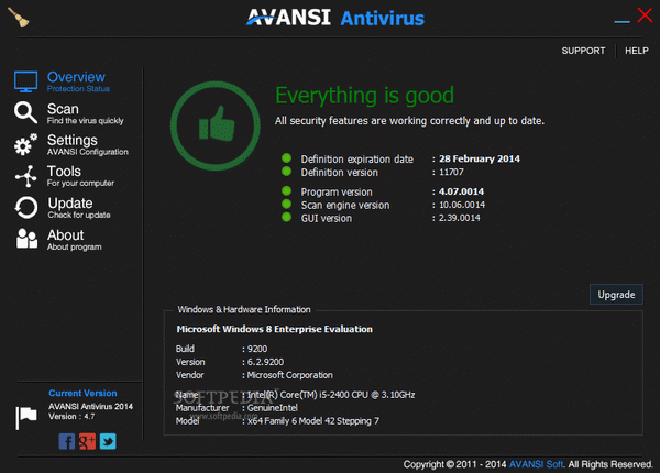 AVANSI Antivirus Crack + Serial Number