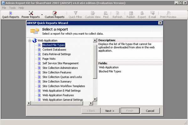 Admin Report Kit for SharePoint 2007 (ARKSP) + Crack Keygen