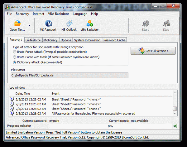Advanced Office Password Recovery + Crack Keygen Serial Download