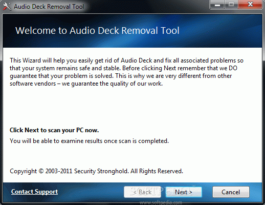 Audio Deck Removal Tool