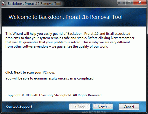 Backdoor . Prorat .16 Removal Tool Crack With Activation Code