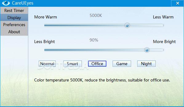 CareUEyes - Free blue Light Filter, screen dimmer + Crack