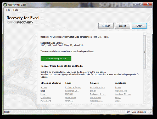 Recovery for Excel + Crack Keygen Serial Download