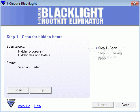 F-Secure BlackLight Rootkit Detection