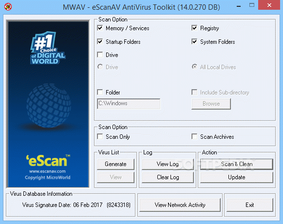 eScanAV AntiVirus Toolkit