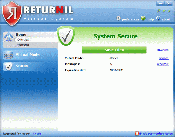 Returnil Virtual System Pro 2011 Crack With Activator