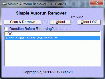 Simple Autorun Remover Crack With License Key