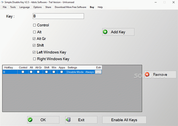 Simple Disable Key Crack + Activation Code