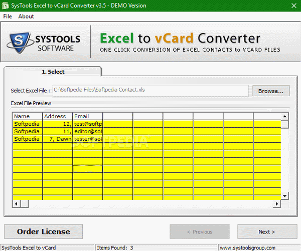 SysTools Excel To VCard Converter Can'T Run | SysTools Excel