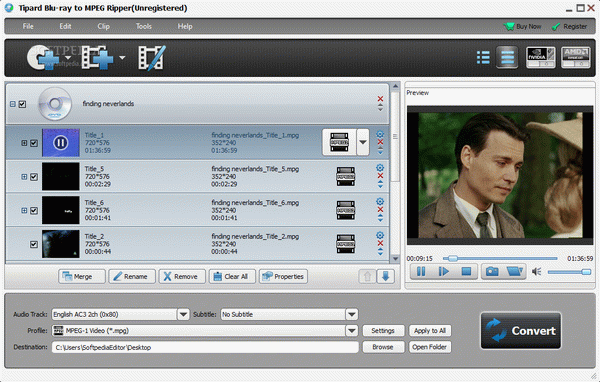 Tipard Blu-ray to MPEG Ripper