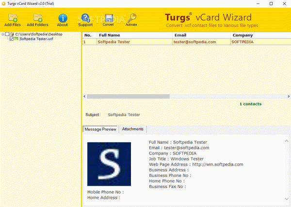 Turgs vCard Wizard + Crack Keygen Serial Download
